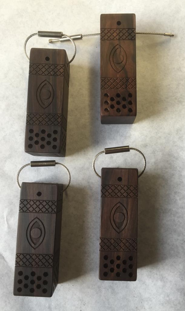 Sleutelhager assieraad hout