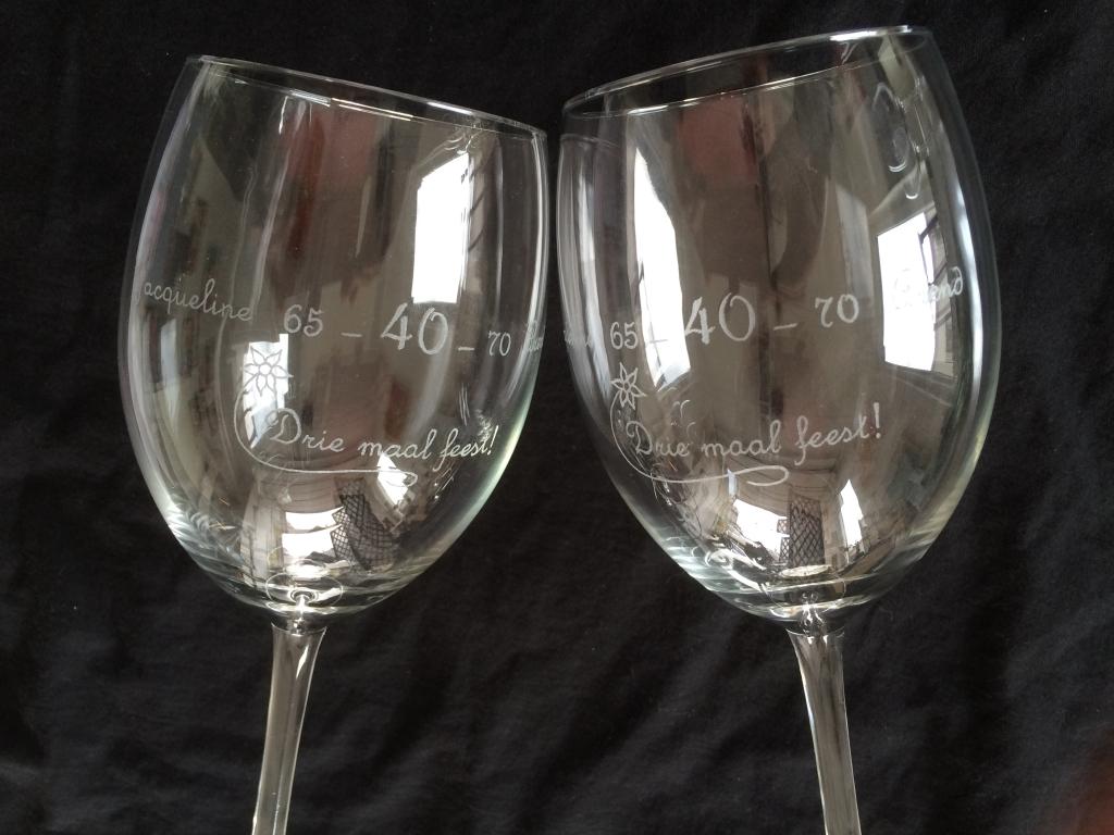 Glasgraveren wijnglazen