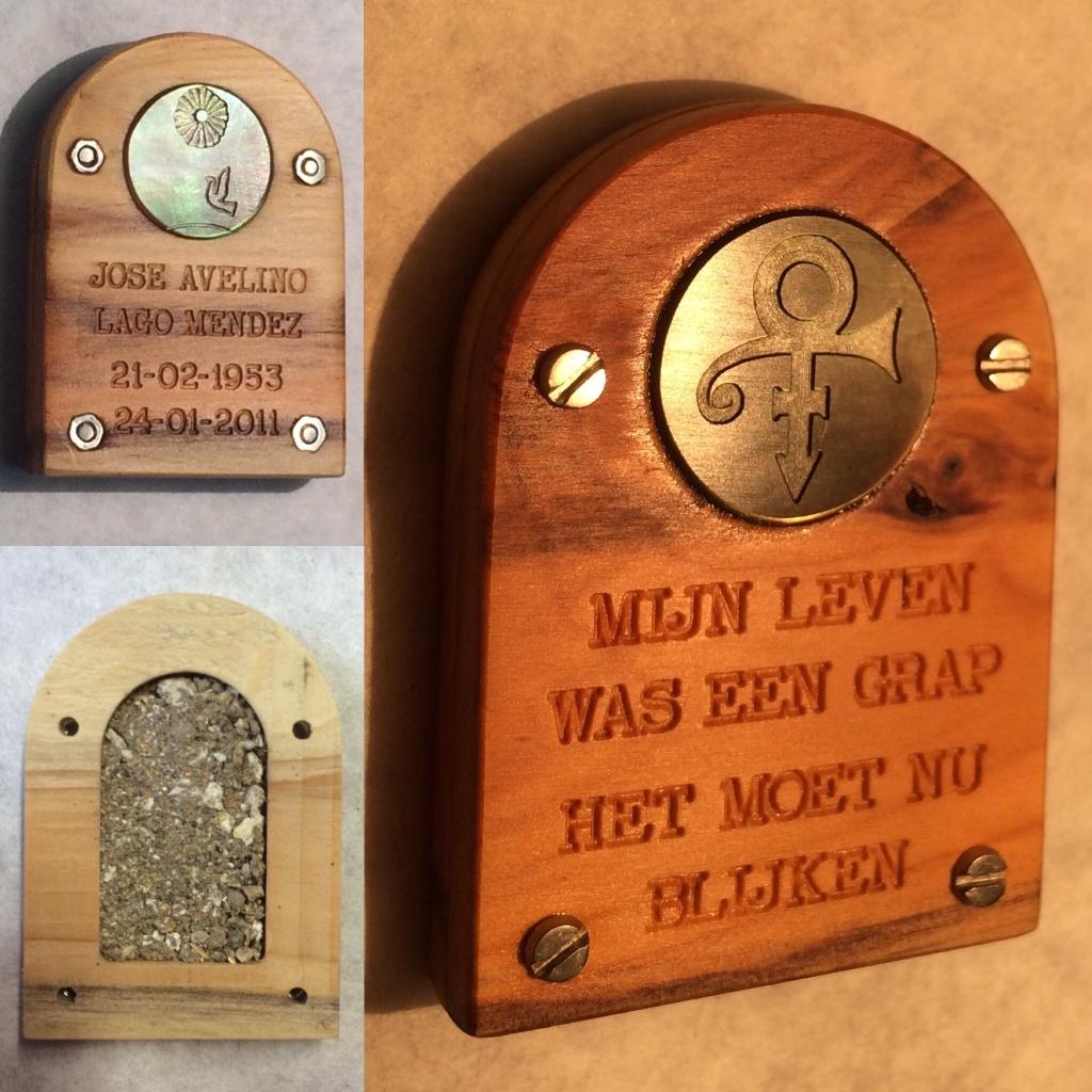 hout gedenk urn laten maken