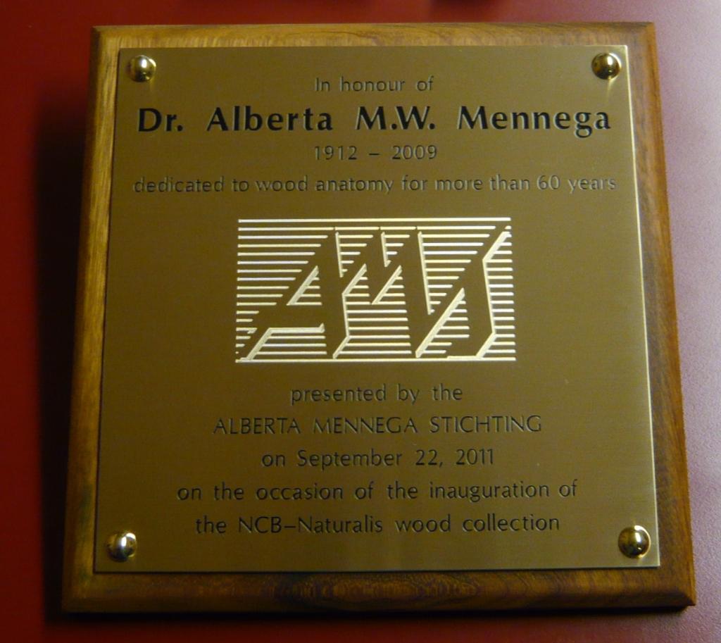 Plaquette gedenkplaat laten maken messing Mennega