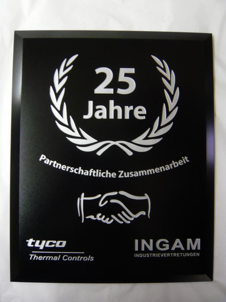 Plaquette laten maken acrylaat Tyco