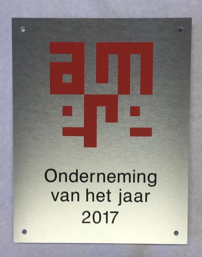 Plaquette prestatie laten maken aluminium Almere