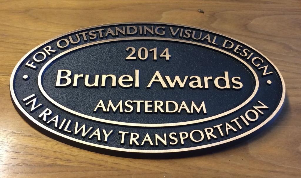 Plaquette ovaal laten maken brons Brunel