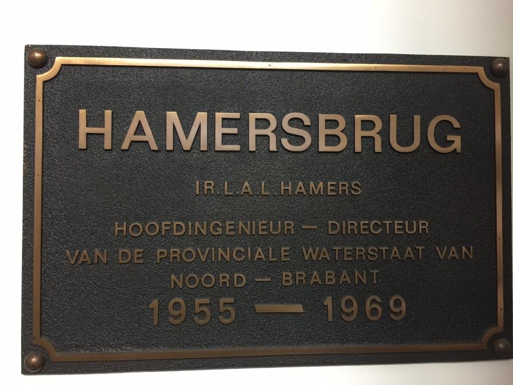 Plaquette laten maken brons Hamersbrug