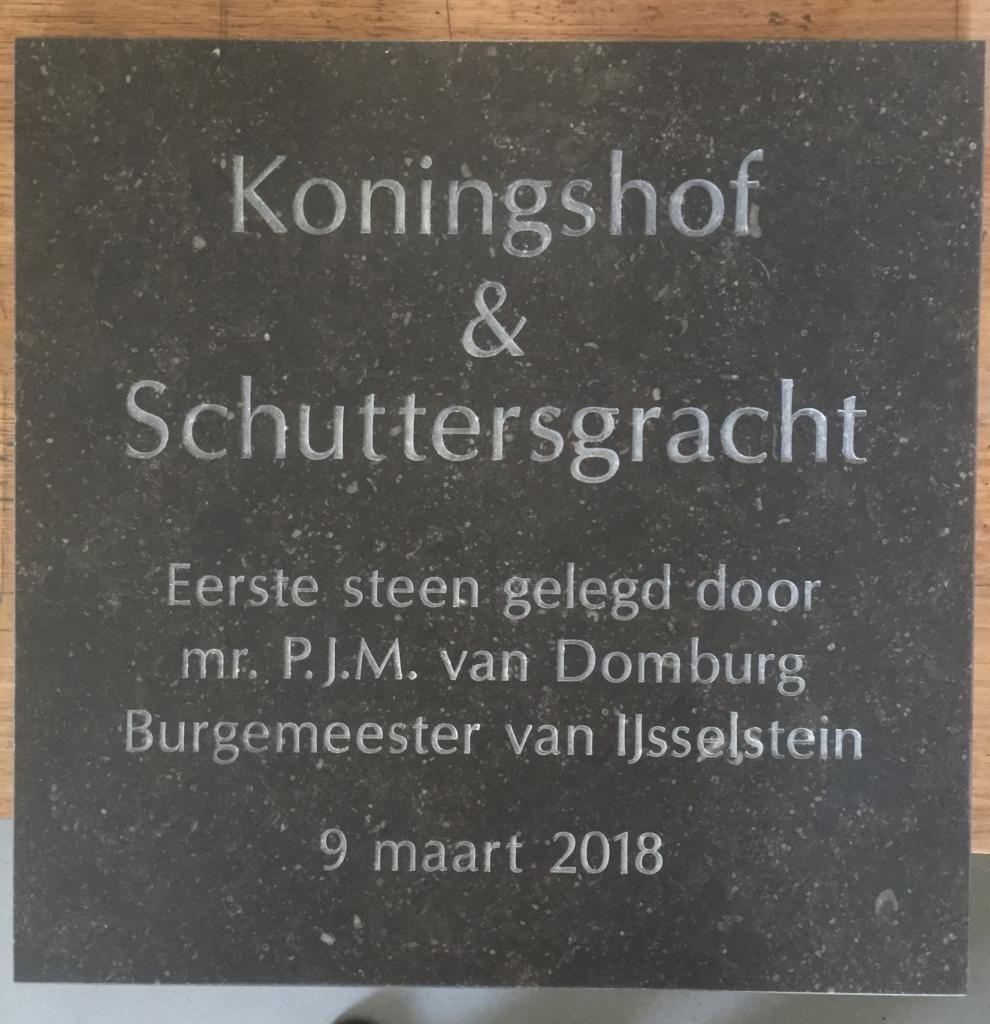 Plaquette laten maken eerste steen IJsselstein
