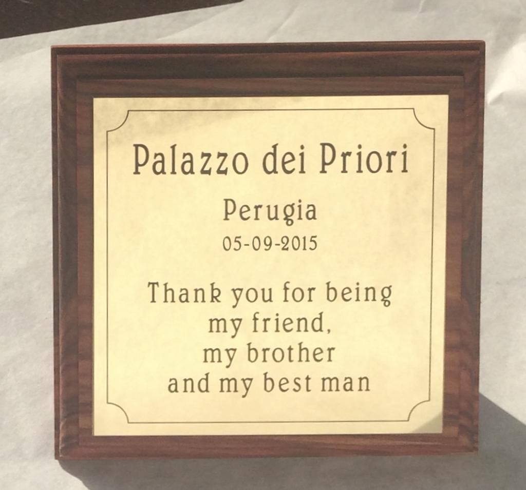 Plaquette award om te bedanken maken