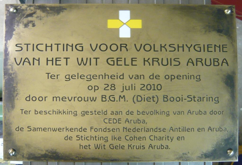 Plaquette laten maken opening Aruba