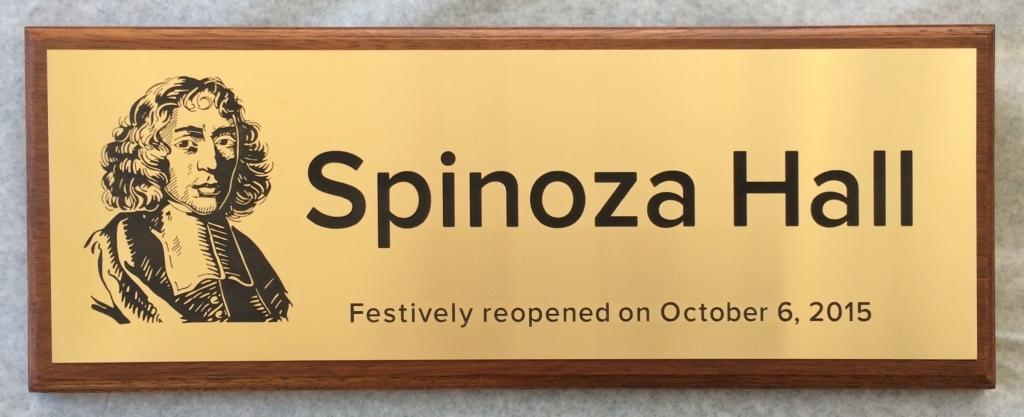 Plaquette laten maken opening Spinoza