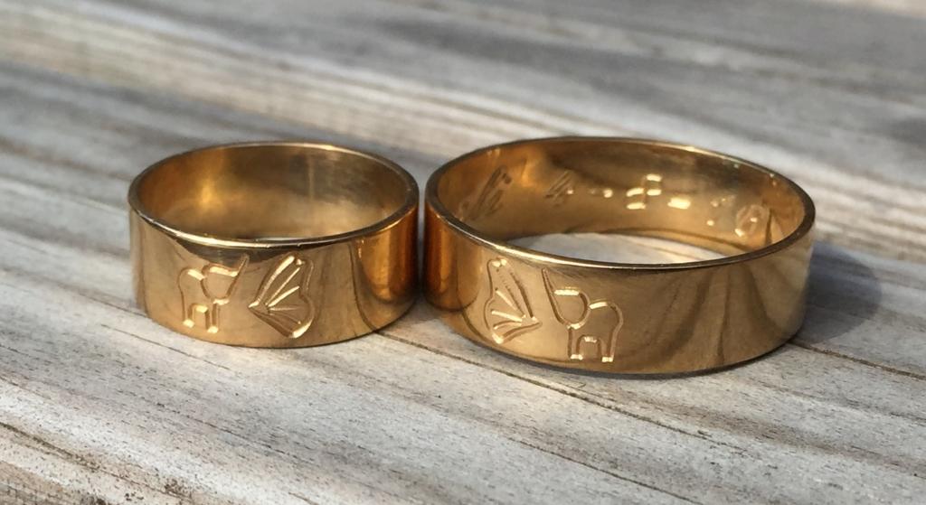 Zilver en sieraad graveren Gouden ringen