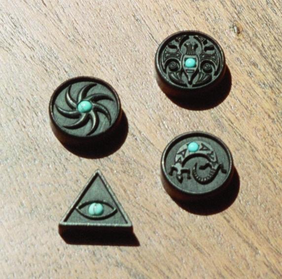 Gepersonaliseerd kado Mini amuletten hout
