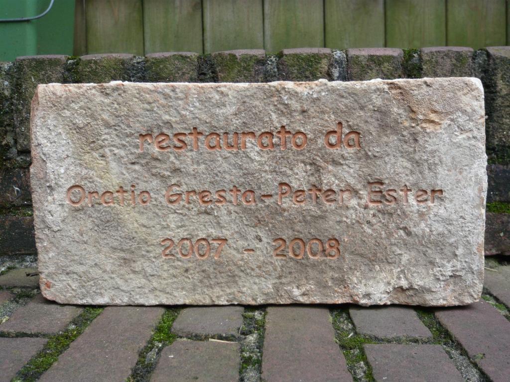 Gravure in zand steen