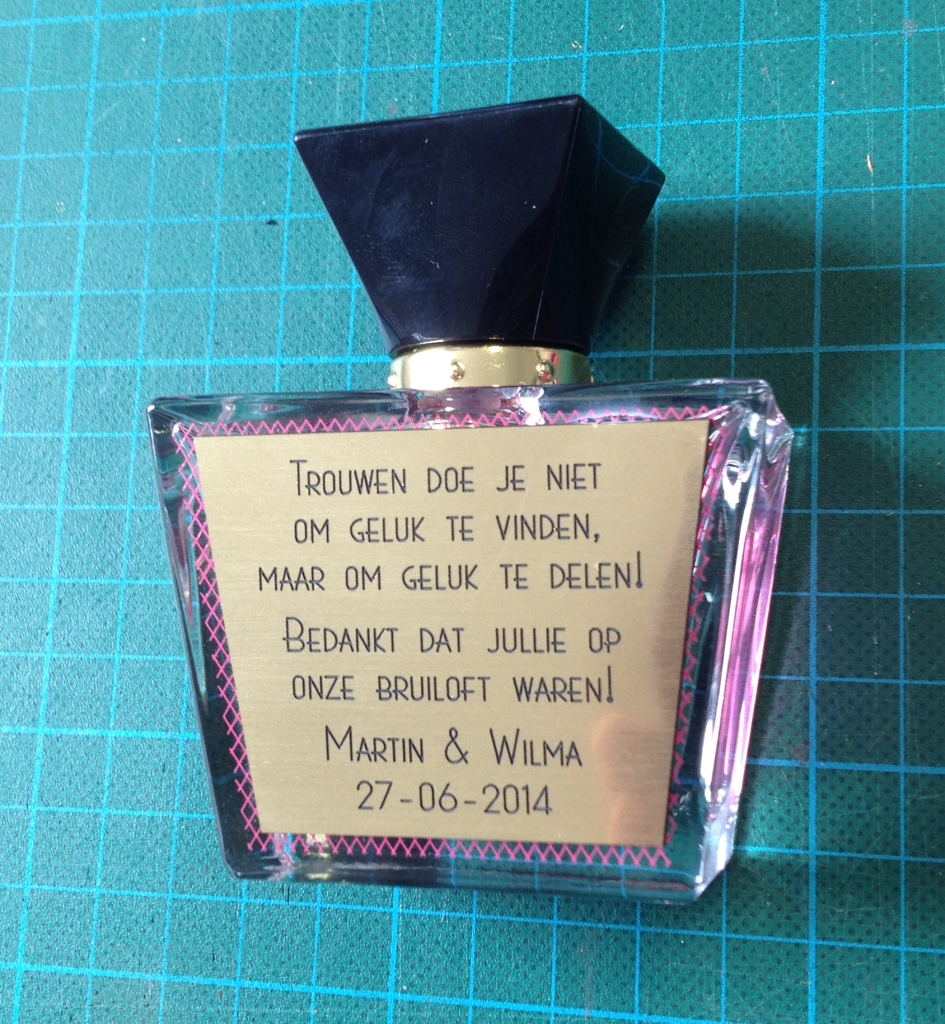gepersonaliseerd parfumflesje